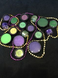 Fantastic Mehron and Ben Nye colors for St. Pat's and Mardi Gras. So easy to wow people with this make up!