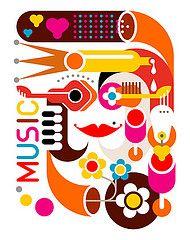 Music - vector poster // Dan Jazzia's work.