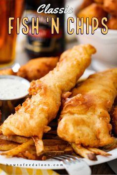 You can never go wrong with a perfectly prepared English fish 'n chips with homemade tartar sauce and even Southern hush puppies! The BEST! See ALL-NEW VIDEO with complete recipe>>> Fish And Chips Batter, Fish Batter Recipe, Best Fish And Chips, Classic Fish And Chips Recipe, Classic Recipe, H Salt Fish And Chips Recipe, Homemade Fish And Chips, Fish Recipes, Gastronomia