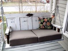 Porch Swing Made from Old Doors.
