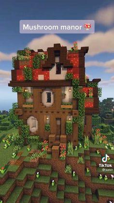 Minecraft Garden, Minecraft Farm, Easy Minecraft Houses, Minecraft House Tutorials, Minecraft Plans, Minecraft Construction, Amazing Minecraft, Minecraft Tutorial, Minecraft Blueprints