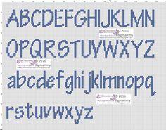 Crochet Alphabet, Cross Stitch Alphabet Patterns, Alphabet Charts, Embroidery Alphabet, Cross Stitch Letters, Letter Patterns, Stitch Patterns, Cross Stitching, Cross Stitch Embroidery
