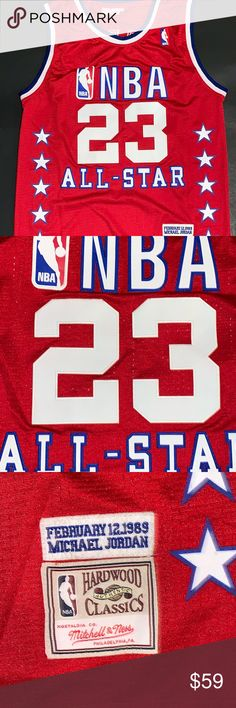 Shop Men s Mitchell   Ness Red size L Tank Tops at a discounted price at  Poshmark. Description  Michael Jordan 1989 NBA All Star Game Jersey Sold by  Fast ... 5070e58af