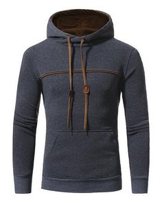 Winter Fashion Hoodie Casual Solid Color - Men's Hoodie