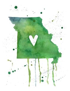 State watercolor art $10.00 - I think it would be cute to get one of Georgia and California.