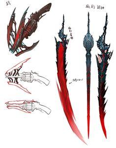 武器 Home Decor decoration lights for home Anime Weapons, Sci Fi Weapons, Weapon Concept Art, Fallout Weapons, Fantasy Sword, Fantasy Armor, Armas Ninja, Cool Swords, Sword Design