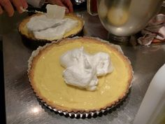 Adding the meringue Uk Recipes, Lemon Meringue Pie, Tarts, Desserts, Food, Mince Pies, Tailgate Desserts, Pies, Deserts