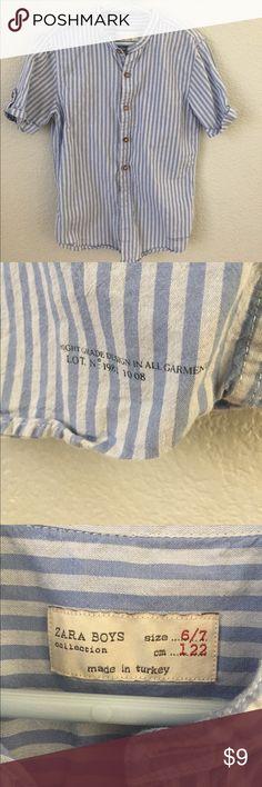 Zara boys button down shirt short sleeve No stains or holes. Zara Shirts & Tops Button Down Shirts