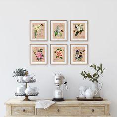 Botanical Wall Art, Floral Wall Art, Botanical Prints, Art Prints For Sale, Framed Art Prints, Modern Farmhouse Decor, Wall Art Sets, Home Art, Gallery Wall