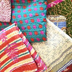 New patterns in our baby Kantha quilts ❤️ #babygifts #fairtrade #kanthaquilts #kantha #onemercantile
