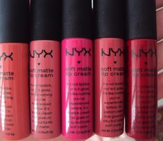 Nyx Soft Matte Lip Creams @Luuux #Nyx #Matte #Lipcream Nyx Soft Matte Lip Cream, Nyx Matte, Beauty Products, Hair Beauty, Make Up, Lipstick, Cosmetics, Create, Makeup