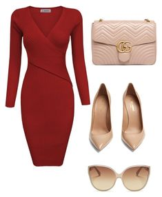 """Untitled #137"" by beljo-baby on Polyvore featuring Yves Saint Laurent, Linda Farrow and Gucci"