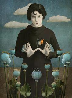 Poppies Lady - Surrealism Photograph Collage by Daria Petrilli Kunst Online, Art Et Illustration, Inspiration Art, Fine Art, Art Design, Surreal Art, Oeuvre D'art, Painting & Drawing, Illustrators