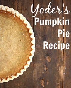 Yoder's Pumpkin Pie Recipe - Her Heartland Soul