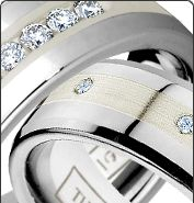 Diamond Bands - Durable Wedding Bands from TungstenWorld.com