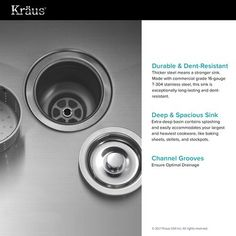 Kraus L x W Double Basin Undermount Kitchen Sink with Faucet and Soap Dispenser Faucet Finish: Stainless Steel Double Bowl Kitchen Sink, Farmhouse Sink Kitchen, New Kitchen, Kitchen Sinks, Kitchen Ideas, Kitchen Grey, Kitchen Corner, Kitchen Remodel, Kitchen Design