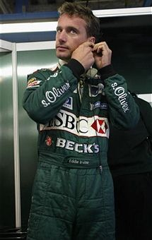 Eddie Irvine of Northern Ireland and Jaguar prepares for first practice for the FIA Formula One Italian Grand Prix at the Autodromo di Monza, Italy on September Irish Racing, Hot Men, Hot Guys, Formula 1 Gp, Italian Grand Prix, Monaco Grand Prix, F1 Drivers, Car And Driver, F 1