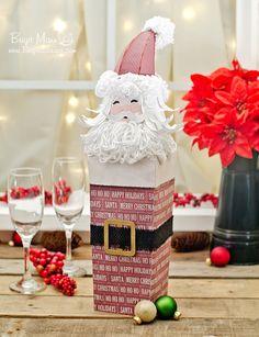"Brigit's Scraps ""Where Scraps Become Treasures"": Santa Wine Box!"