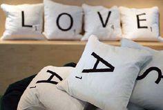 Pillows à la Scrabble