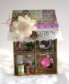 Rain's To Do: Create like a 5 year old. Work on theme. Work on ideas of your own. (Shadowbox house julia stainton)
