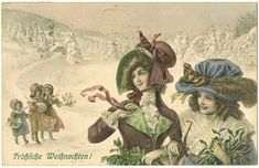 Merry Xmas. Vintage Postcard from 1911 from curioshop on Ruby Lane