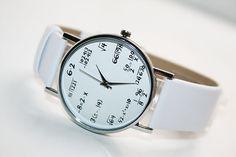 Unisex Watch Leather Watch ladies watch White by SovietCrimea