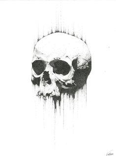 Pointillism Skull Ink on Bristol paper 10 Dark Art Drawings, Tattoo Drawings, Smal Tattoo, Pointillism Tattoo, Black And White Art Drawing, Stippling Art, Scratchboard Art, Old School Tattoo Designs, Skeleton Art