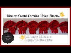 BICO EM CROCHÊ CARREIRA ÚNICA -SIMPLES - YouTube