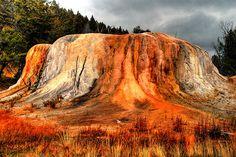 Orange Spring Mound, Mammoth Hot Springs, Yellowstone National Park, Wyoming