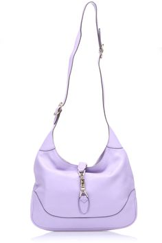 Jackie Shoulder Bag in Lavender Steeped in glamour, famed for fashionable yet timeless designs, loved by movie stars and bequeathed to future generations, few fashion houses can boast as much mystique as Gucci; Features adjustable strap; Piston strap closure; Two inner drop pockets; Inner zip pocket; Dustbag ShoulderbagBags #ShoulderBags