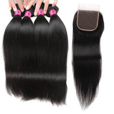 "Peruvian 4""x4"" Lace Closure Sew In Peruvian Straight Hair Free Part Closure Middle Part Weave Silk Closure 3 Part Closure and Bundles #LaceClosure"