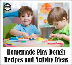 Homemade Play Dough Recipes and Activity Ideas   Your Therapy Source. Pinned by SOS Inc. Resources. Follow all our boards at pinterest.com/sostherapy/ for therapy resources.