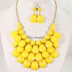 Drop Shape Necklace 3 Layers Necklace bubble set by EllenJewelry, $16.00