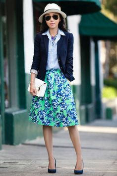 Best of the Week's Style Bloggers: Roomy Skirts - The Cut