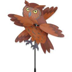 Brown Owl Whirligig Spinner 21881