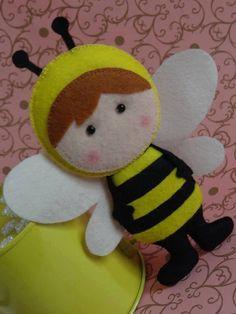 Moldes de abelhinhas em feltro!