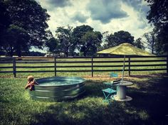 "Stock tank pools, also affectionately referred to as ""hillbilly hot tubs,"" are rising in popularity online and in stores. Homeowners are repurposing the galvanized tubs, which are designed to house drinking water for livestock, into swimming pools for the backyard."