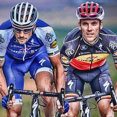 Two great champions together in season 2017 Tom Boonen and Philippe Gilbert by @brakethrough_media