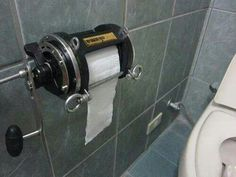 The Best Of Man Cave Accessories – 40 Pics - Toilet Paper from a Fishin' Reel