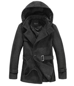 The Reed Hooded Short Trench Charcoal