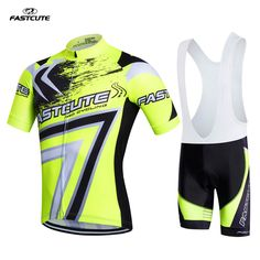 Fastcute pro team cycling jersey bike short clothes men summer ciclismo Cycling clothing 3D gel Bicycling Maillot Culotte FS13