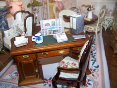 Le bureau Shabby Chic, Vanity, French, Mirror, Furniture, Home Decor, Miniatures, Dressing Tables, Powder Room