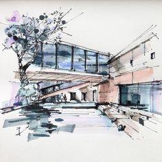 我开始相信春捂秋冻了… #doodler #archiporn #handdrawn #architectureschool #freehand #watercolours #marker #arqsketch #arch_more #sketch_arq #sketches #pen #sketcher #arquisemteta #archilover