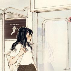 (컴퍼스에 붙은 몽당연필 - 1/1) 컴퍼스에 붙은 몽당연필 움직이는 전철 속 그곳에서 바라 본 창밖의 풍경은 가까울 수록 보다 빠르게 멀 수록 천천히 움직인다 하지만 풍경은 그곳에 그대로 있을 뿐 컴퍼스에 붙은 몽당연필이 되어 움직이는 것은 나 뿐이다