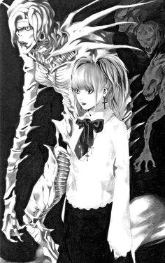 """◇lεt us εxplorε thε world of nothingnεss togεthεr◇ — shoyasha: """"I am the God placed here to save. Death Note Fanart, L Death Note, Shinigami, Art Goth, Manga Art, Anime Art, Amane Misa, Japon Illustration, Gothic Anime"""