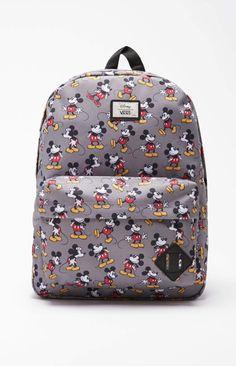 4f618a010e Vans - Disney Old Skool II Mickey Mouse School Backpack - Mens Backpacks -  Gray -