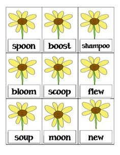 spring vowel digraph bang game! many more available as well!