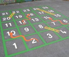 Image result for painted pavement games