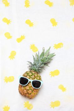 A Bubbly Life: DIY Pineapple Stamped Scarf on PBteen!