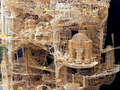 Amazing construction.All out of simple toothpicks.